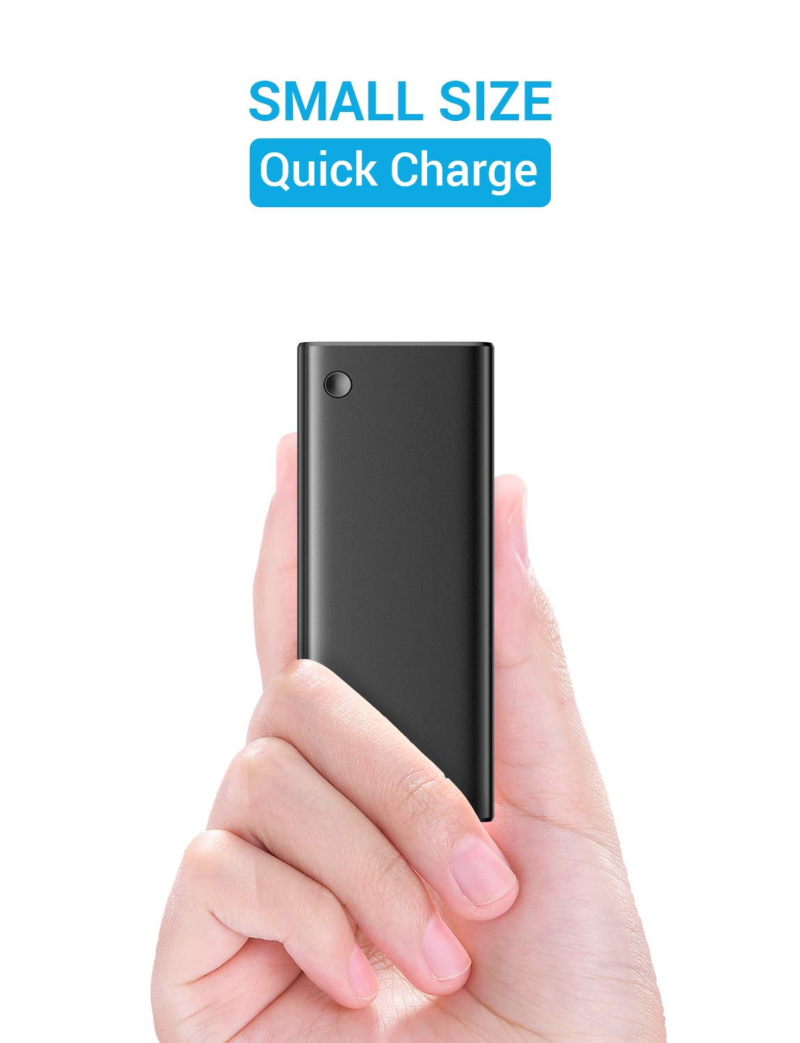 Samsung Galaxy S10//s9//s8 and More AINOPE Portable Charger 10000mah Mini, USB-C 3A Output /& Input Travel Power Bank for iPhone Xr//Xs iPad Fast Dual USB Outputs Battery Pack with C to C Fast Cable