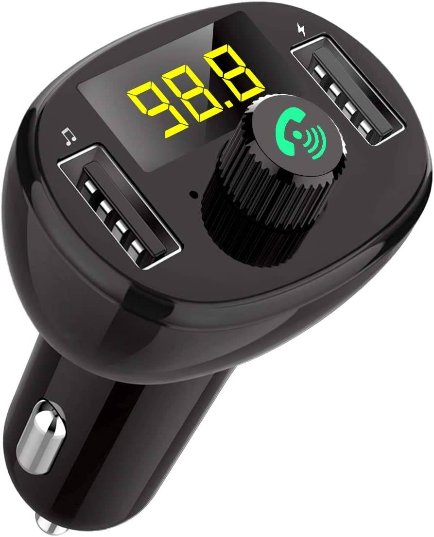 Bluetooth 5.0 FM Transmitter for Car 7Colors LED Backlit Type-C/& 2 USB Ports 5V//3.1A Quick Charger Wireless Bluetooth Car FM Radio Adapter MP3 Music Player Car Bluetooth Adapter 2 USB Port 1 Type-C