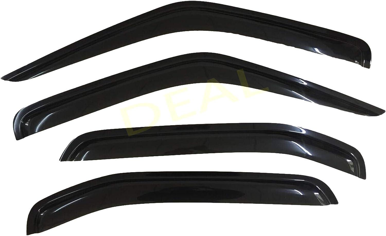 Side Window Deflector With Outside Mount Tape-On Type DEAL 4-Piece Set Smoke Vent Window Visor Custom Fit For 2000-2004 Nissan Xterra