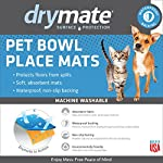 Drymate Pet Placemat, Dean Russo Designs, Dog Food Mat, Cat Food Mat, Zorb-Tech Anti Flow Technology for Surface Protection (USA Made) 8
