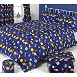 Mucky Fingers Childrens Spaceman Duvet Cover Bedding Set (Twin Bed) (Spaceman)