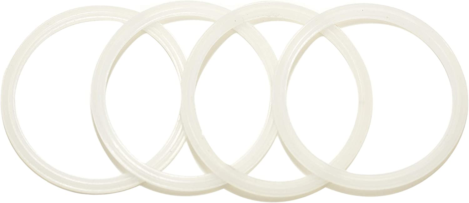 4 Pack New OEM Replacement White Rubber Seals, fits 10, 12, 16, and 20 ounce Stainless Steel Tumbler Lids Only from Yeti RTIC Ozark Trail Atlin Beast