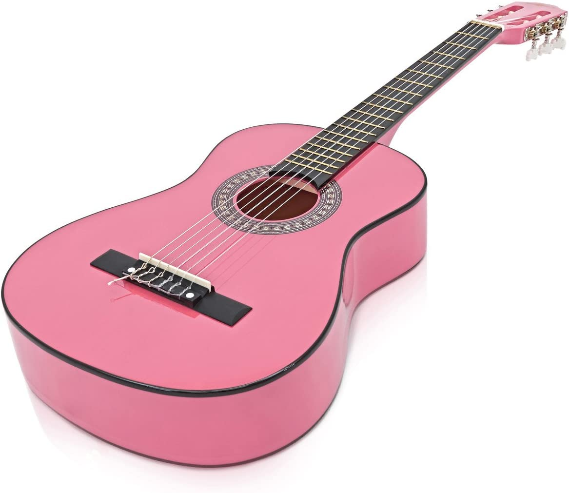 Paquete de Guitarra Espanola Junior de 1/2 de Gear4music Pink ...