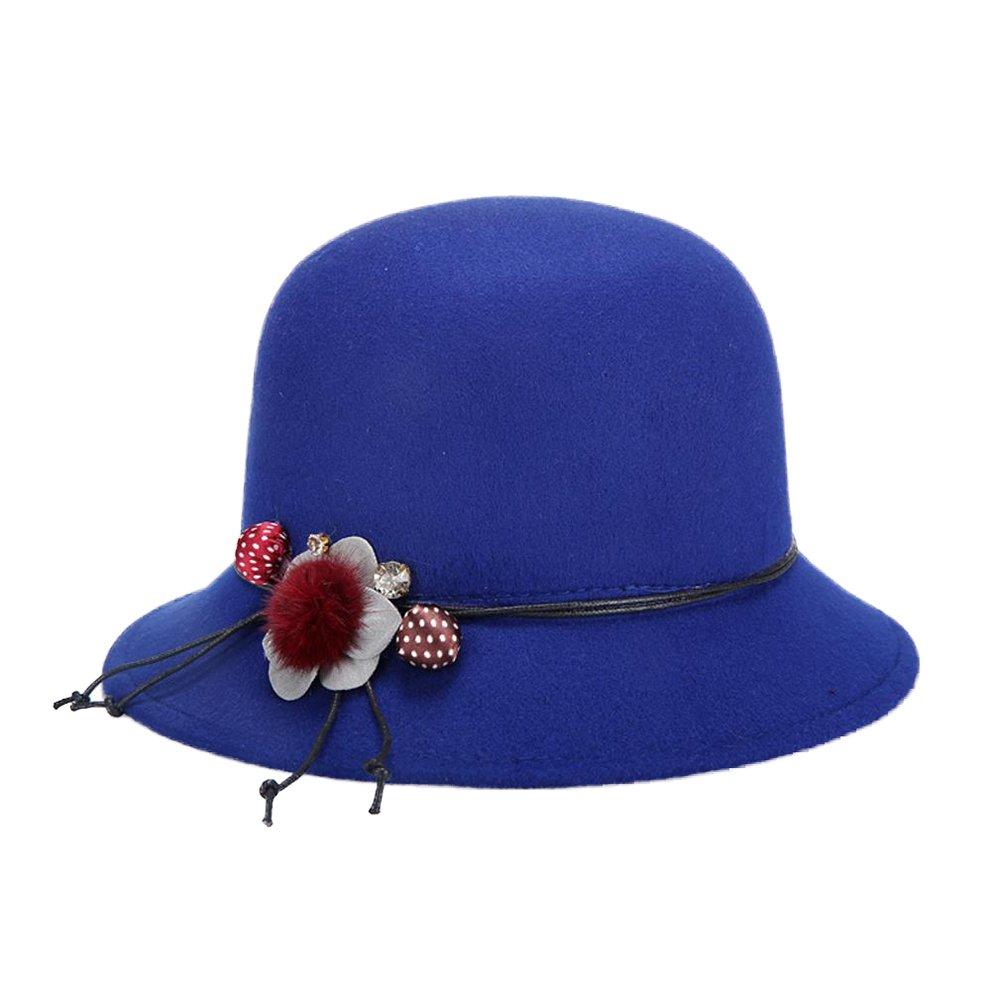 Dosige Frauen Winddicht Bucket Hat Glockenhut Damenhut Hut Filzhut Damenglocke Filzglocke für Damen 1AZDYDNJ90D058O3713F1