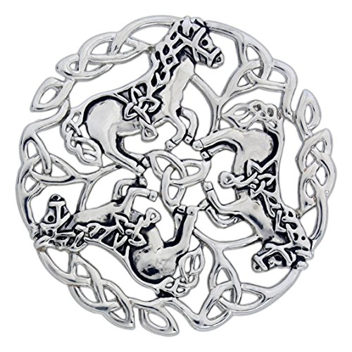 Quantum Pewter Celtic Horse (Knot Brooch Pin)