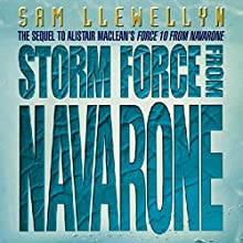 Storm Force from Navarone Audiobook by Sam Llewellyn Narrated by Jonathan Oliver