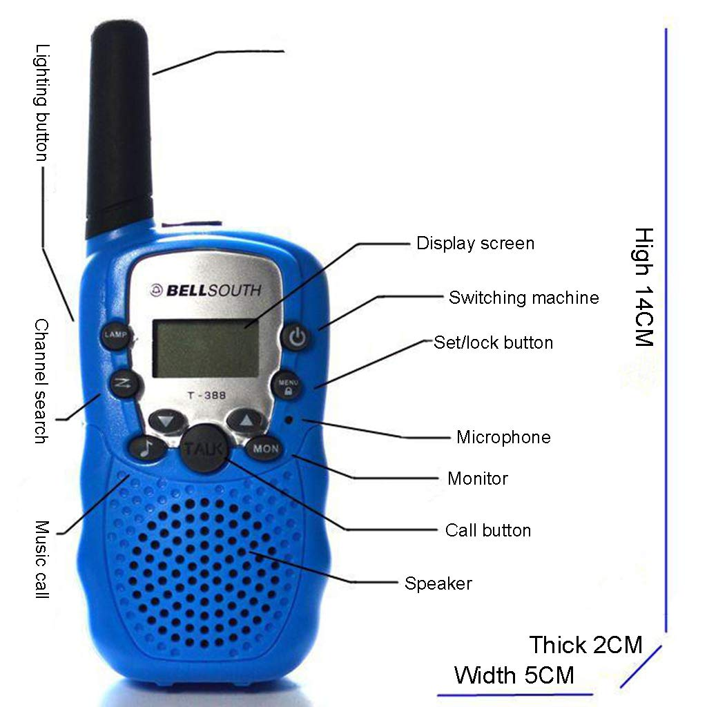 Banbu Kids Walkie Talkies 22 Channel FRS Toy for Kids Uhf FRS 2 Way Radio Toy, 2Packs,Black by Banbu (Image #3)