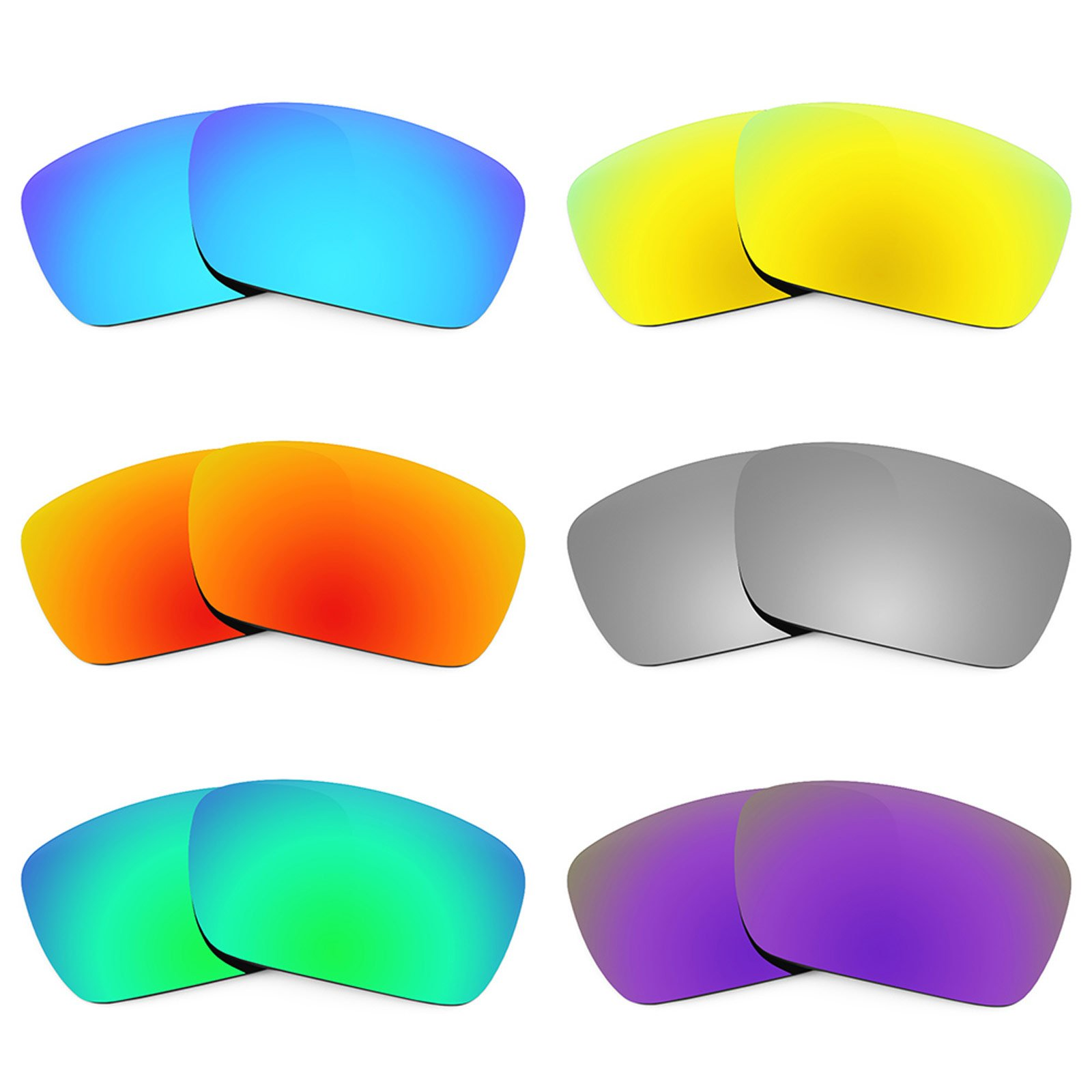 Revant Replacement Lenses for Oakley Fuel Cell 6 Pair Combo Pack K027 by Revant