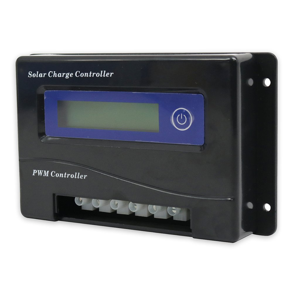 Missouri Wind and Solar 20 Amp 12/24 Volt PWM Solar Charge Controller w/LCD Screen