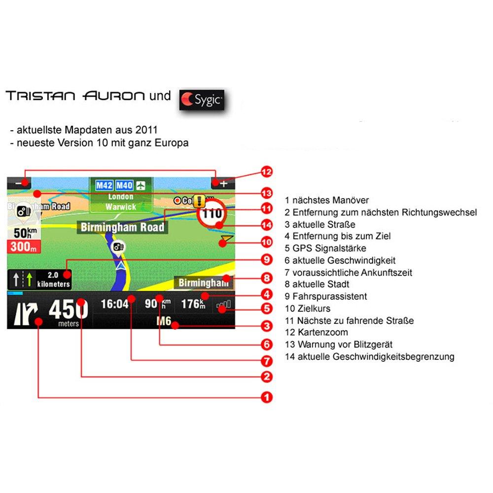 Tristan Auron BT2D7012 Naviceiver mit TMC Doppel DIN Autoradio mit ...