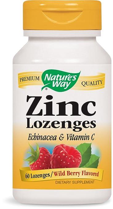 Amazon Com Nature S Way Zinc Lozenge 60 Lozenges Health