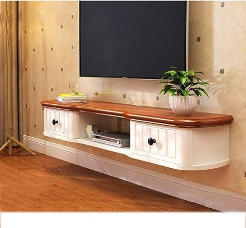 LXYFMS Mueble de Estante para televisor montado en la Pared Estante de Juegos de Consola de Entretenimiento Multimedia con cajones para el hogar Estante (Color : A, Size : 122cm): Amazon.es: Hogar