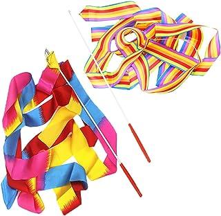 Gym Danse Fitness Art Rubans Conçu Rythmiques Streamer Danse Rubans Banderoles Rythmique pour Enfants Danse Artistique Yifanzi