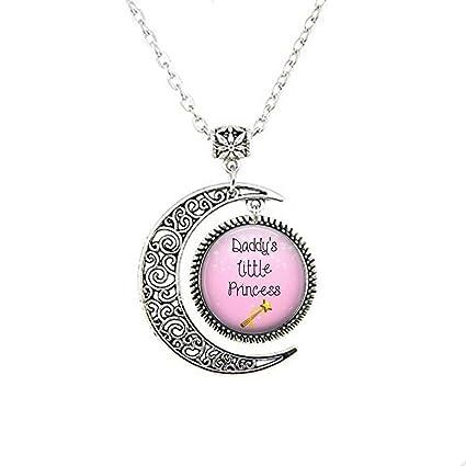 Amazon.com: Daddys Little Princess Moon Collar o llavero ...