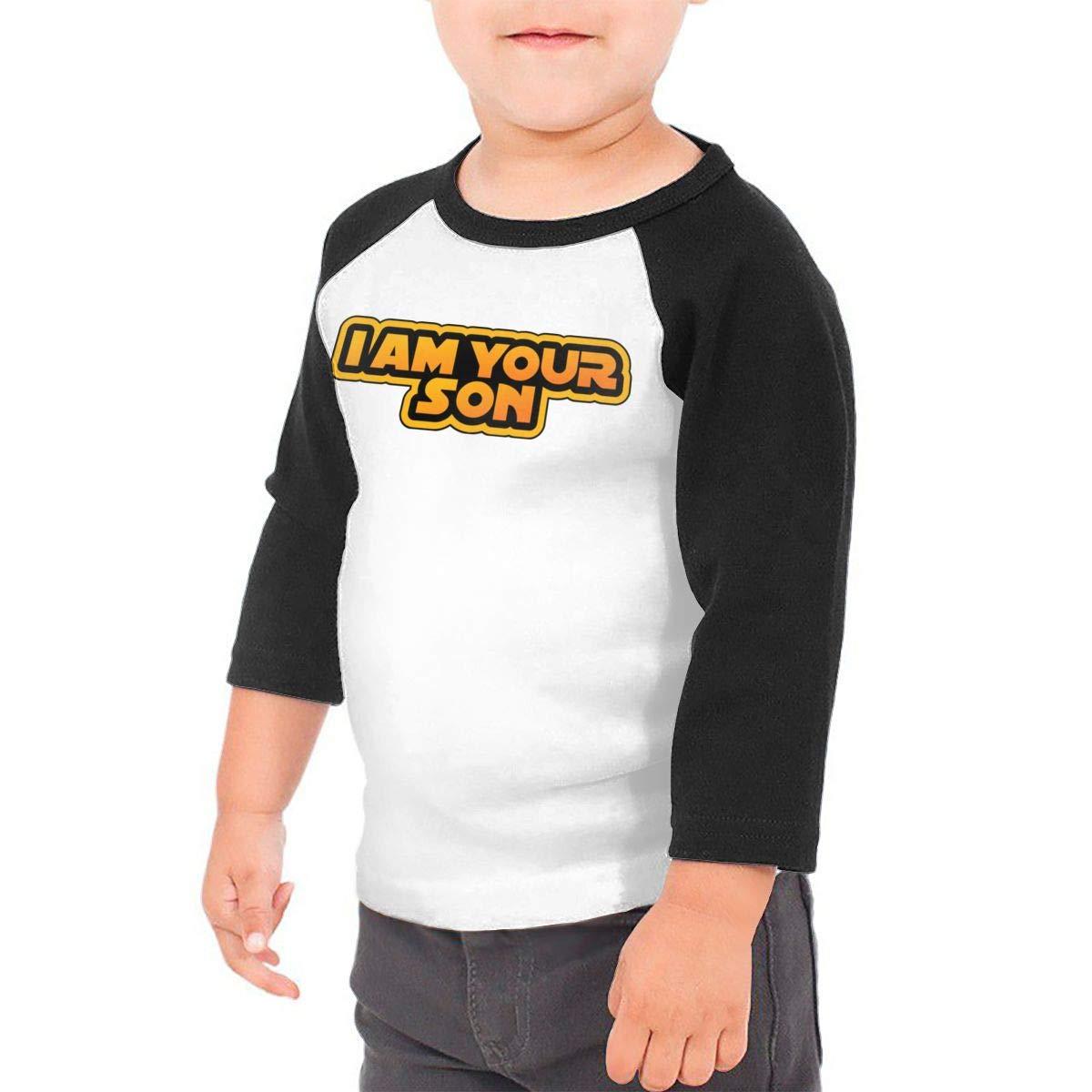 I Am Your Son Raglan 3//4 Sleeve T-Shirt for Girls Boys