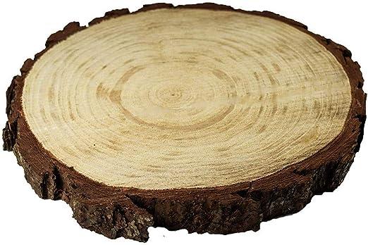 ToDIDAF 1 pieza de rodajas redondas de madera rústica – rodajas de ...