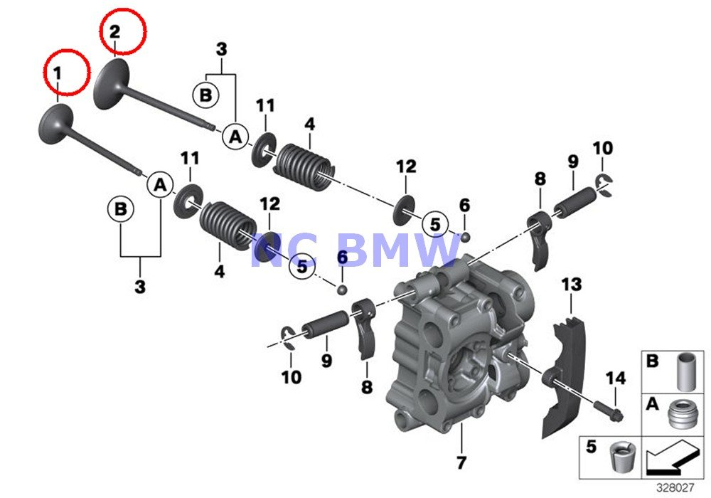 4 X BMW Genuine Motorcycle Timing Gear Intake Valve R nine T R1200GS R1200GS Adventure R1200RT R1200R HP2 Sport