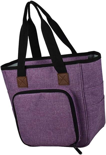 Stricktasche Stricken Häkeln Tasche Aufbewahrungstasche für Wolle Häkelnadel
