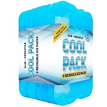 [nuevo] pack refrigerante, finas bolsas de hielo de larga duración – Ideal para neveras o merenderas.