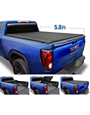 Tyger Auto T3 Tri-Fold Truck Tonneau Cover TG-BC3C1053 for 2019 Chevy Silverado/GMC Sierra 1500 New Body Style (Incl. Denali) | Fleetside 5.8' Bed | for Models Without Utility Track System