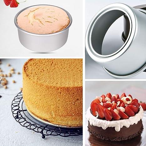 Molde para hornear tartas de aluminio antiadherente con base ...