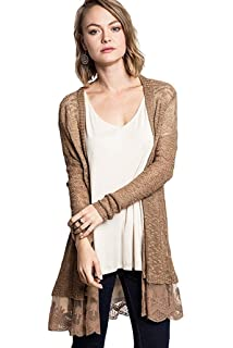 LookbookStore Women Long Open Front Lightweight Cardigan Sweater ... bd5cdbb0b