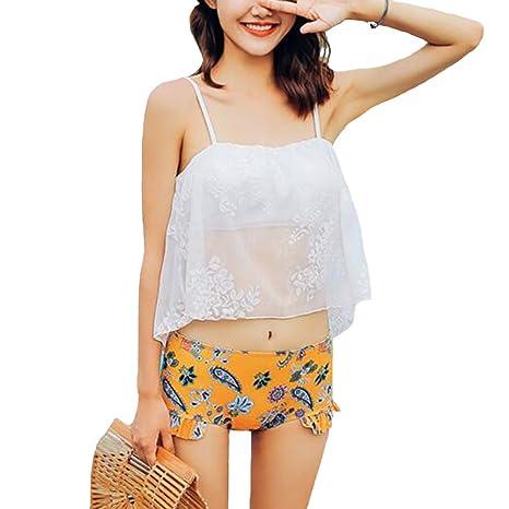 Sunny Impresión División Tres Piezas Sombra Pantalones ...