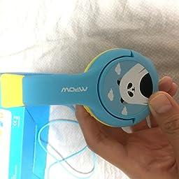 Amazon Co Jp カスタマーレビュー mpow 子供用ヘッドフォン かわいいパンダ仕様 有線 ヘッドセット ワイヤレス ヘッドホンか シェアポートとマイクを搭載した音量制限附きヘッドフォン Ipad Ipod Iphone タブレット ラップトップ Androidスマートフォン ピンク
