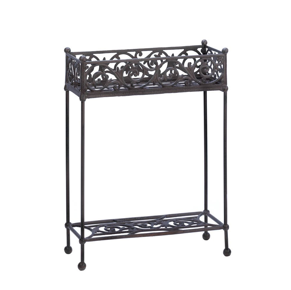 Fantastic Amazon.com : Cast Iron Rectangle Slender Two Tier Plant Stand  OS29