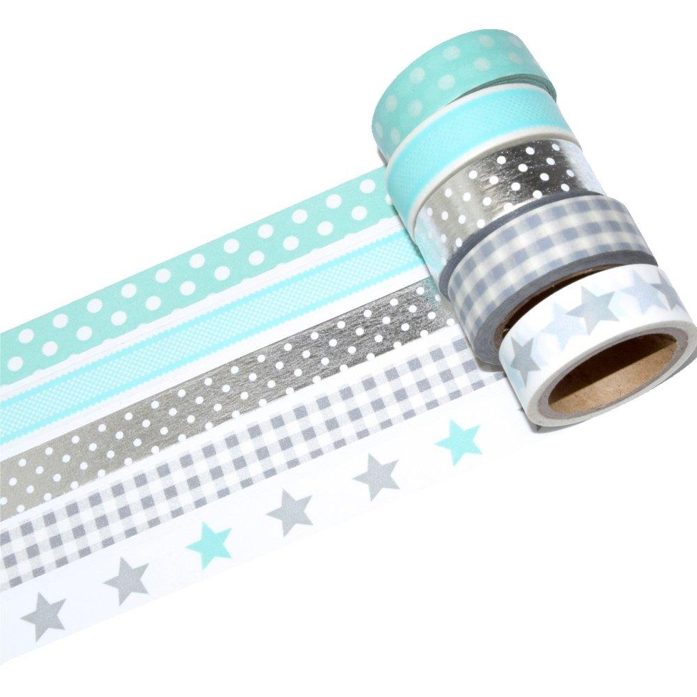 K-LIMIT 11er Set Washi Tape Dekoband Masking Tape Klebeband Scrapbooking DIY Rentier Schneemann Santa Claus Nikolaus Weihnachten Christmas 9436