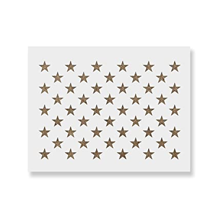 3e489ad464f6 Amazon.com   50 Stars Stencil Template - Reusable Stencil of American Flag  50 Stars in Official US Proportions (Actual Dimensions 5.3