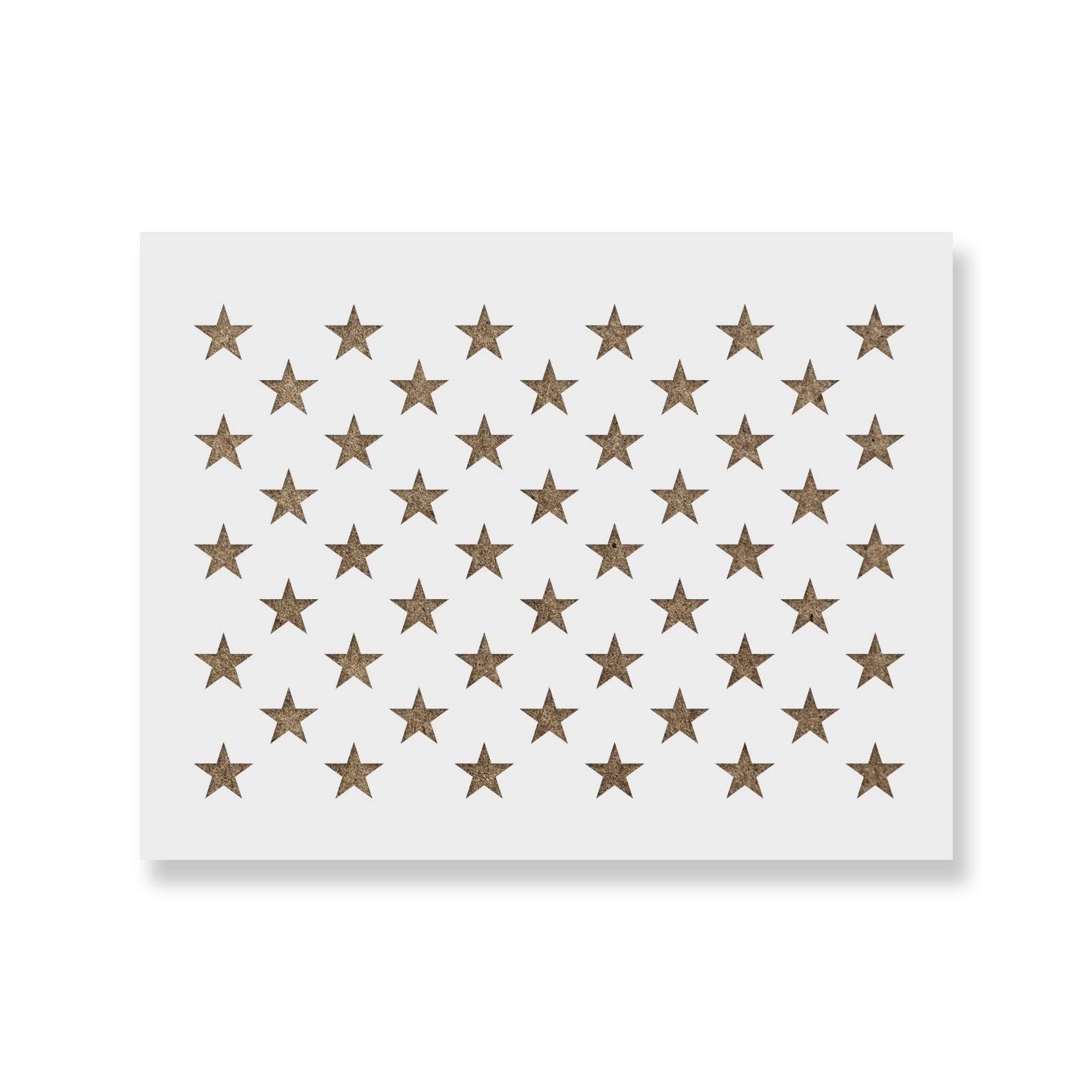 50 Stars Stencil Template - Reusable Stencil of American Flag 50 Stars in Official US Proportions (Actual Dimensions 32.1'' Width x 22.3'' Height)