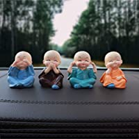 Ramming® Set of 4 Miniature Decorative Cute Figurines for Dashboard Car Interior Decoration