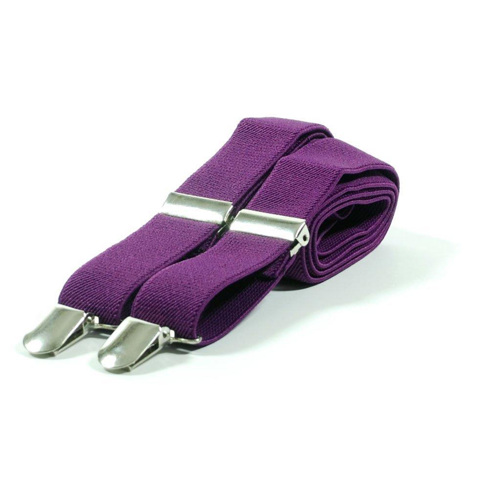 bianco rosso o viola Bretelle in tinta unita per pantaloni colore: nero