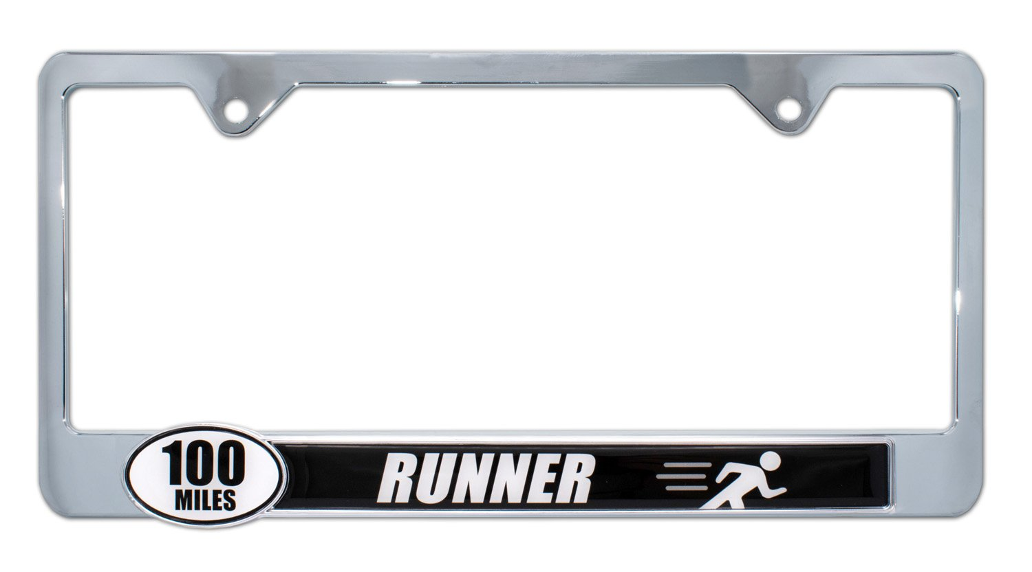 Elektroplate Ultra Marathon 100 Miles Finisher License Plate Frame 100 Miles Finisher