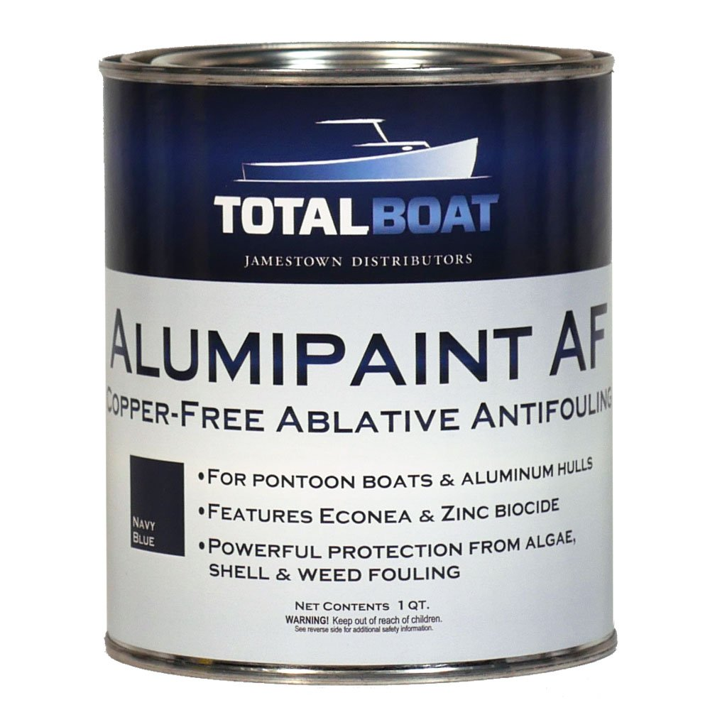TotalBoat Alumipaint AF Aluminum and Pontoon Boat Bottom Paint (Navy Blue, Quart)