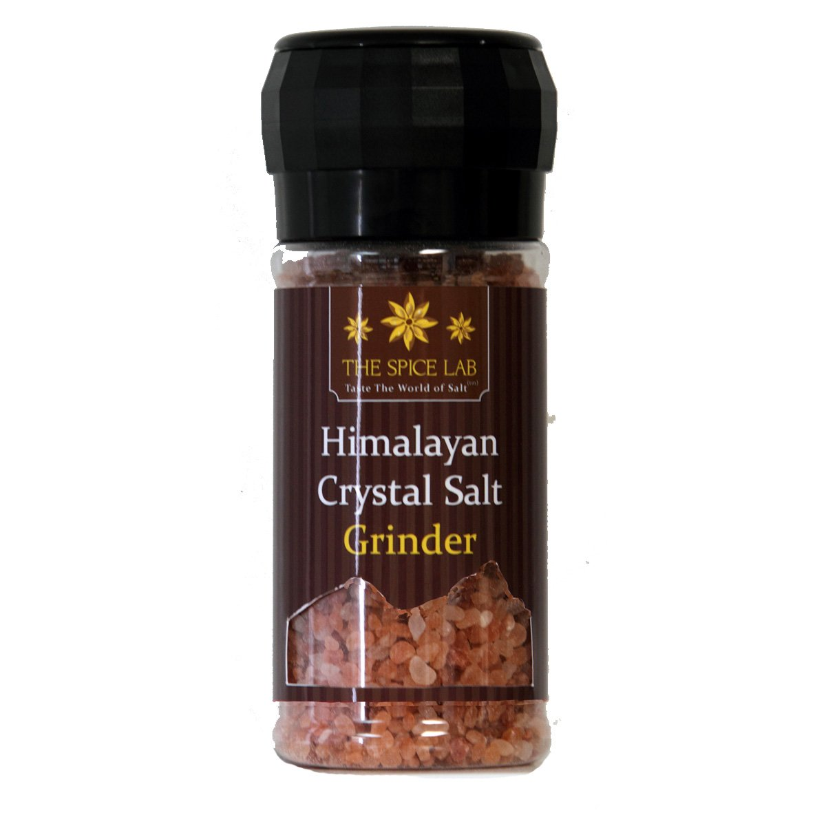 The Spice Lab Himalayan Pink Salt - Coarse Gourmet Pure Crystal - Nutrient and Mineral Dense for Health - Kosher and Natural Certified Food Grade - 1 Pound Grinder