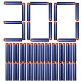 AMOSTING 300 PCS 2.84in (7.2cm) Foam Darts Universal Standard RefillRound Head Bullet Pack for Most Nerf N-strike Elite Series Blasters Toy Hand Gun - Blue
