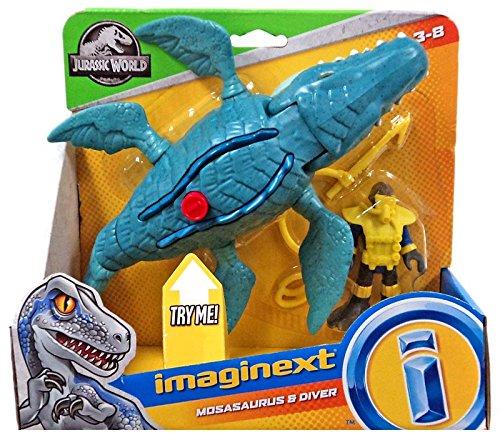 Imaginext Jurassic World Mosasaurus & Diver Figure Set Mattel