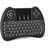 Wireless Keyboard,LESHP H9 Mini 2.4G Wireless Touchpad Keyboard Mouse Combo with Backlight