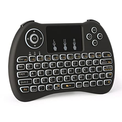 f2537a24a3b Backlight ZenzeComm 2.4G Mini Wireless Keyboard with Touchpad Backlit  Handheld Wireless Keyboard Mouse Combo for