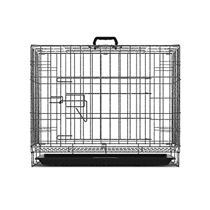 Jaula para Mascotas Plegable Metal Pet Nest Dog Puppy Cage Crate Tray Jaula para Gatos Fácil