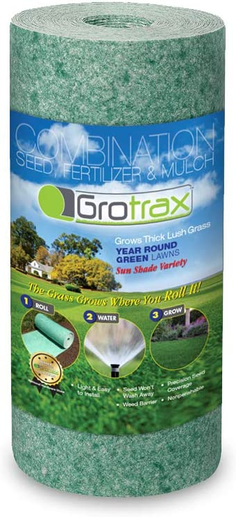 Grotrax Quick Fix Roll - 50 Square Feet Grass Seed Mat