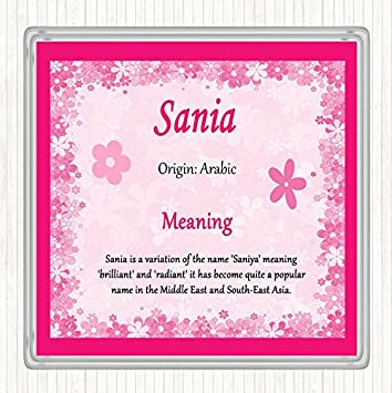 Sania Name Meaning Drinks Mat Coaster Pink Amazoncouk Office