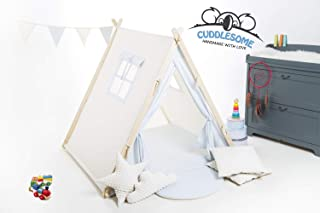 Baby blue teepee tent playhouse for children by Cuddlesome