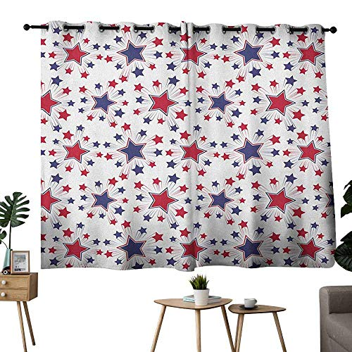 - Mannwarehouse USA Customized Curtains Celebration Shooting Star Figures International Freedom Festival Art Print Darkening and Thermal Insulating 55