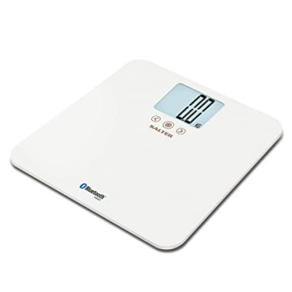 Salter Báscula de baño Bluetooth digital, capacidad de 250 kg, medición de IMC,