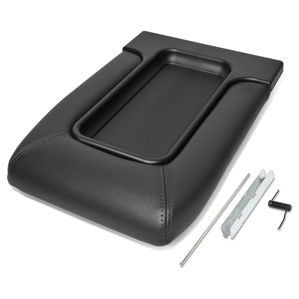 For 01-07 Silverado/Tahoe/Sierra/Yukon XL/Escalade Center Console Tray Lid Repair Kit Arm Rest Latch (Black)