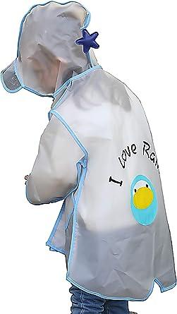 Amazon.com: dripdrop Raincoat for Kids Durable Waterproof Girls Boys Rain  Coat Hooded Poncho Blue Penguin: Clothing