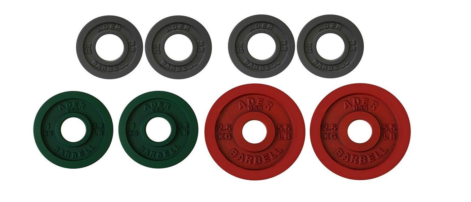 Ader Precision Color Metal Olympic Kilo Gram Plates (4 PRS Color (9.0KG))